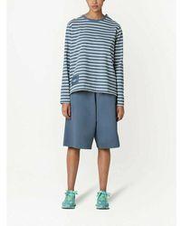 Marc Jacobs Striped T-Shirt - Bleu