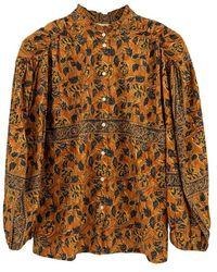 Antik Batik Fanny blouse - Marrón