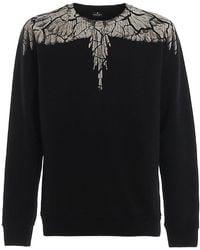 Marcelo Burlon Earth Wings Sweatshirt - Zwart