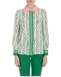 Elisabetta Franchi Shirt Drukken Chain - Groen