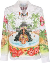 CASABLANCA Printed Shirt - Wit