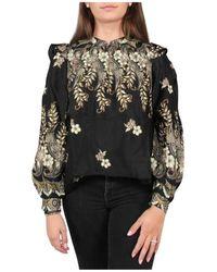 Antik Batik Amelia Blouse - Zwart