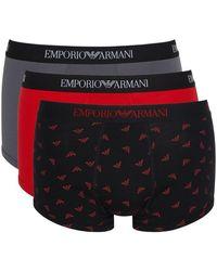 Emporio Armani - Coffret De 3 Boxers - Lyst