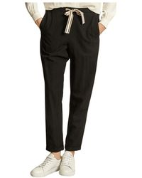 Bellerose Vael trousers with striped drawstring - Nero