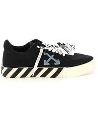 Off-White c/o Virgil Abloh Low Vulcanized Canvas Sneakers - Zwart