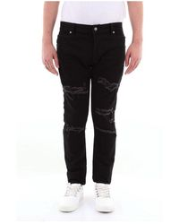 Balmain Sh15230z126 Slim Jeans - Zwart