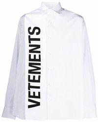 Vetements Shirt - Wit