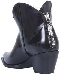 MSGM Texan Boot - Noir