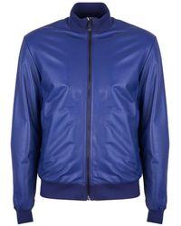 Bikkembergs Kurtka leather - Bleu