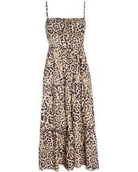 Faithfull The Brand Dress Alexia Midi - Marrone