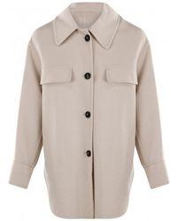 Arma Isabeau wool oversized coat - Natur