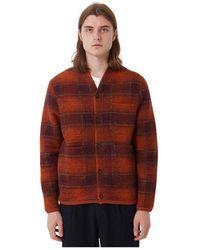 Universal Works Cardigan (austin Wool Fleece) - Rood