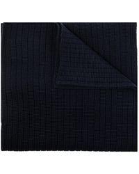Moncler Wool scarf with logo - Blu