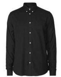 Les Deux Laurent Dobby Shirt - Zwart