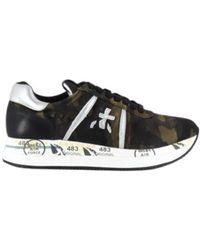 Premiata Canvas Sneakers Militair - Conny5050 - Groen