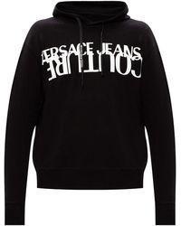Versace Jeans Couture Hoodie Logo - Zwart