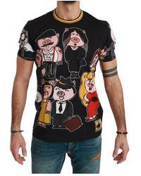 Dolce & Gabbana 2019 Year Of The Pig T-shirt - Zwart