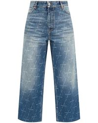 Balenciaga Hoge Taille Jeans - Blauw
