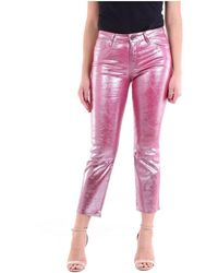 J Brand Cropped Trousers - Roze