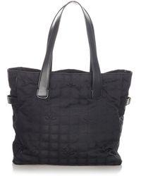 Chanel Vintage Pre-owned New Travel Line Nylon Tote Bag - Schwarz
