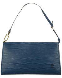 Louis Vuitton Epi pochette accessoires cuir d'occasion - Bleu