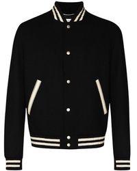 Saint Laurent Teddy Wool Jacket - Zwart