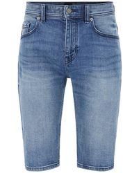 BOSS Orange Bermuda Shorts - Blauw