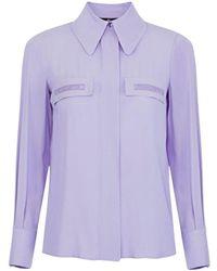 Elisabetta Franchi Ca28111e2 Overhemd - Paars