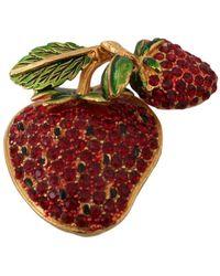 Dolce & Gabbana Strawberry Broche - Rood