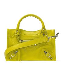 Balenciaga Classic Mini City Shoulder Bag - Groen