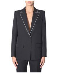 Givenchy Wollen Blazer Met Strass - Zwart