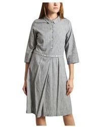 Bellerose Lateef Striped Shirt Dress - Blauw