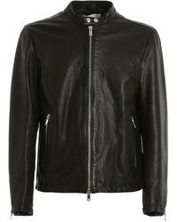Dondup Nappa Leather Biker Jacket - Zwart