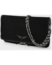 Zadig & Voltaire Rock Bag in Leather Negro