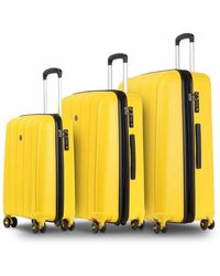 Conwood Pacifica luggage Superset S+l Vibrant Yellow - Geel