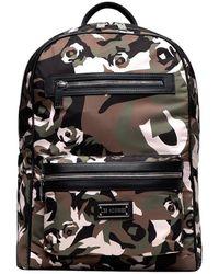 Les Hommes Printed backpack - Negro