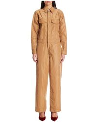 Ganni Gerecycled Polyester Jumpsuit - Bruin