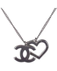 Chanel Heart Pendant Necklace - Grijs