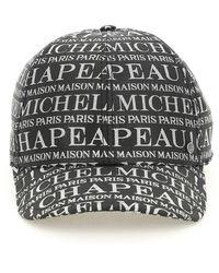 Maison Michel Tiger Monogram Baseball Hat - Grijs
