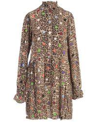 Essentiel Antwerp Zex Ruffled Collar Dress - Bruin