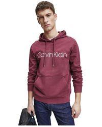 Calvin Klein K10K103664 Maglione Logo HDD - Rosso