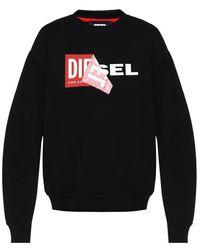 DIESEL - Logo Sweatshirt - Lyst