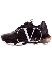 Valentino - Sneakers Met Contrasterende Logo - Lyst