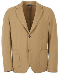 Zanone Deconstructed Knitted Jacket - Naturel