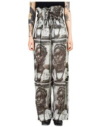 Rundholz Printed Trousers - Bianco
