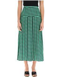 RIXO London Nancy Midi Skirt - Groen