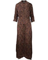 Laneus Chemisier Dress - Bruin