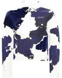Soulland Patterned denim jacket - Bleu