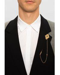 Dolce & Gabbana Alfiler de plata Beige - Neutro