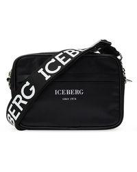Iceberg Shoulder Bag With Logo - Zwart